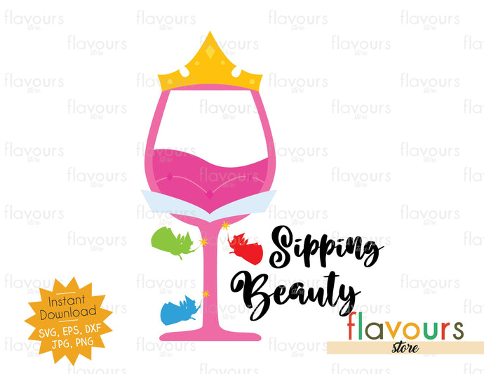 Sipping Beauty - SVG Cut File