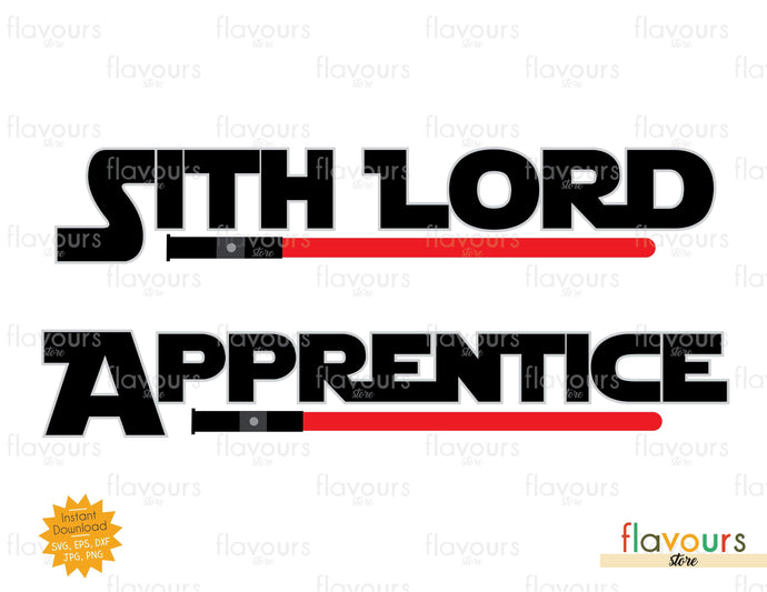 Sith Lord And Apprentice, Star Wars Lightsaber - SVG Cut File