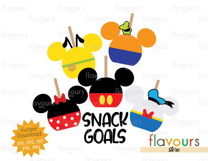 Snack Goals Disney Club - SVG Cut File
