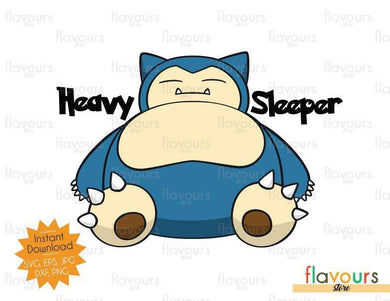 Heavy Sleeper - Snorlax - Instant Download - SVG Cut File