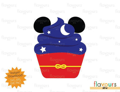Sorcerer Mickey Cupcake - SVG Cut File