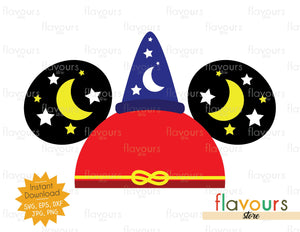 Sorcerer Mickey Hat Ears - SVG Cut Files