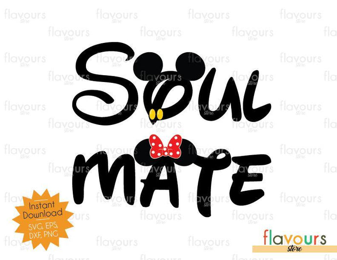 Soul Mate - Mickey Ears - SVG Cut File