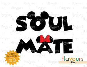 Soul Mate Mickey Ears - Instant Download - SVG Cut File