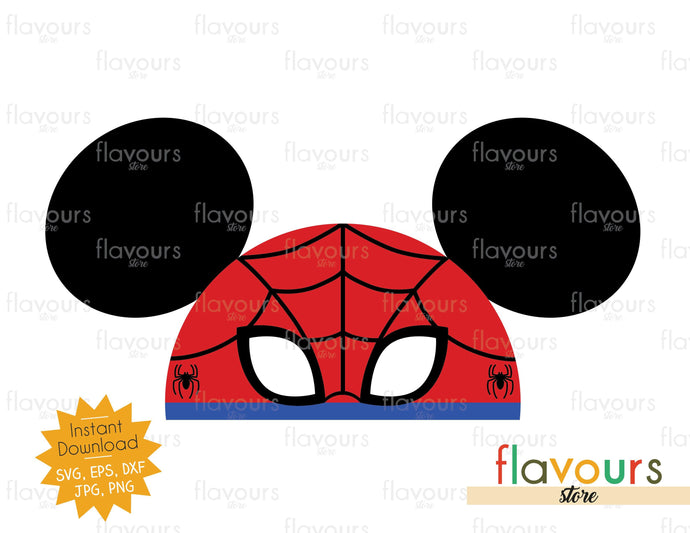 Spiderman Hat Ears - Instant Download - SVG Cut File