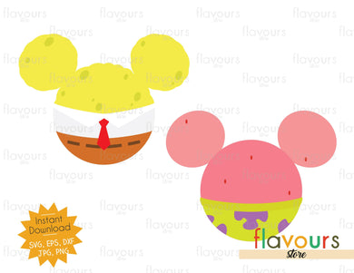 SpongeBob and Patrick Ears - Instant Download - SVG Cut File
