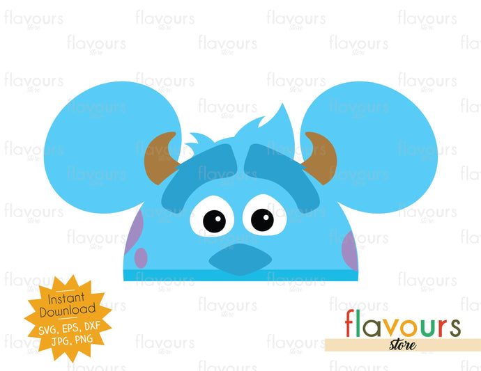 Sulley Hat Ears - SVG Cut Files - FlavoursStore
