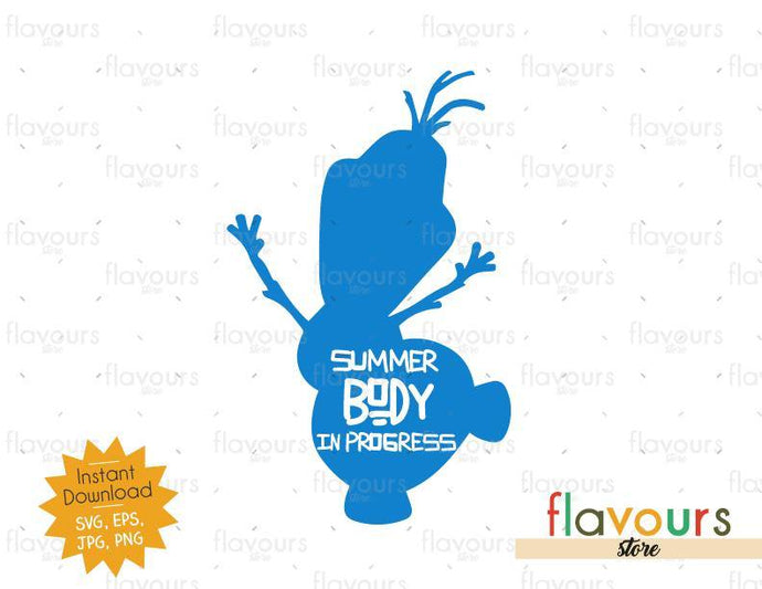 Summer body in progress - Olaf - SVG Cut File