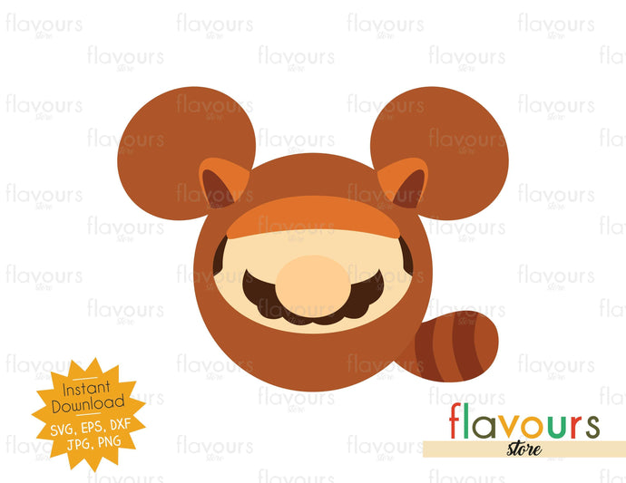 Tanooki Suit Ears - Mario Bros - SVG Cut File - FlavoursStore
