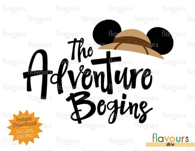 The Adventure Begins Safari Hat Ears - SVG Cut File