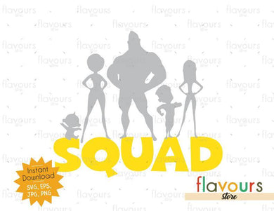 The Incredibles Squad - Cuttable Design Files