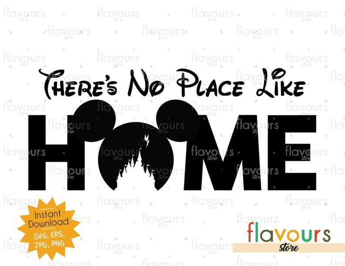 There Is No Place Like Home - Instant Download - SVG Cut File
