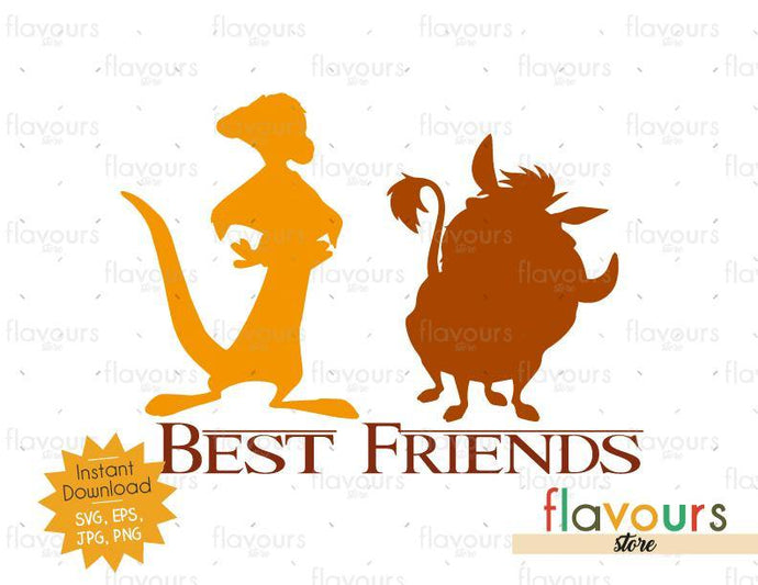 Timon and Pumba - Best Friends - Lion King - SVG Cut File