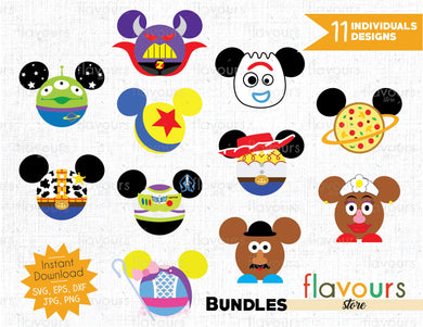 Toy Story Ears Bundle - Cuttable Design Files for Silhouette and Cricut