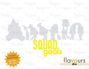 Trolls Squad Goals - Instant Download - Cuttable Design Files