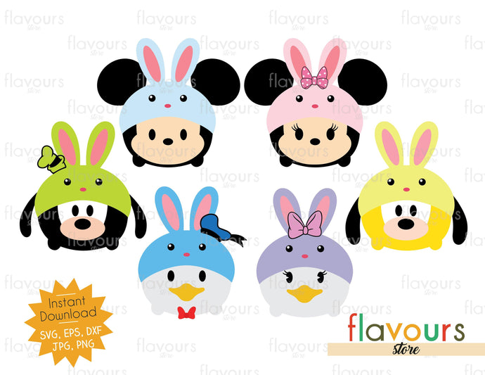 Tsum Tsum Easter - Disney Club - Instant Download - SVG Cut File