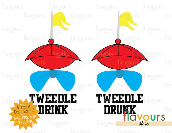 Tweedle Drink Tweedle Drunk - Instant Download - SVG Cut File