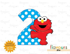 Two - Baby Elmo - Sesame Street - Cuttable Design Files