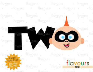 Two - Jack Jack - The Incredibles - Instant Download - SVG FILES