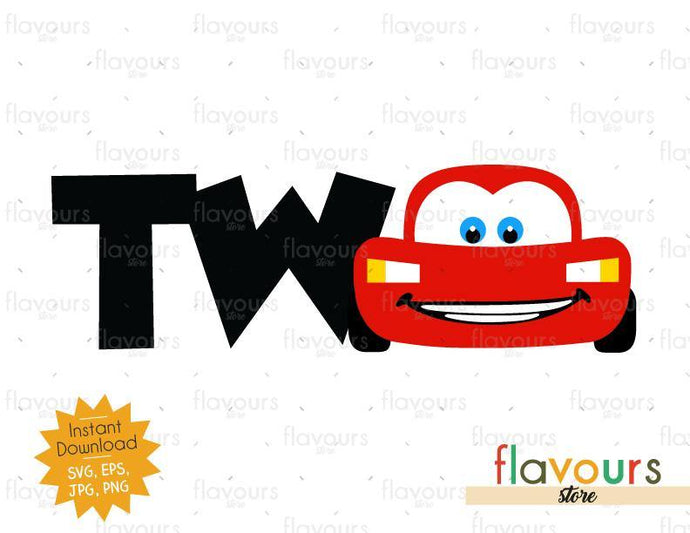Two - Lightning Mcqueen - Cars - Instant Download - SVG FILES - FlavoursStore