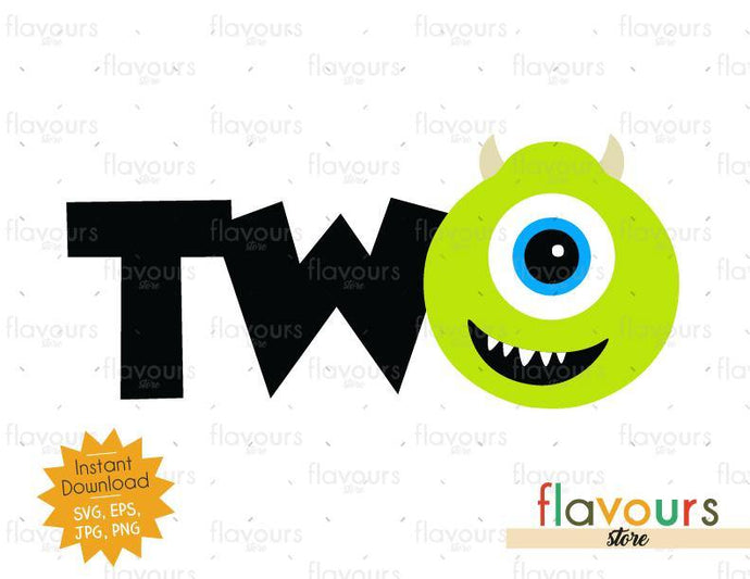 Two - Mike Monsters Inc - Instant Download - SVG FILES
