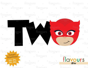 Two - Owlette - Pj Mask - Instant Download - SVG FILES