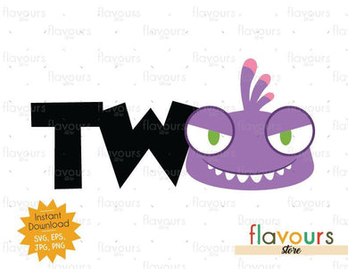 Two - Randall Monsters Inc - Instant Download - SVG FILES