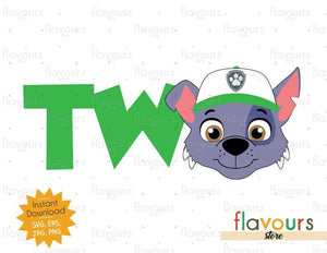 Two - Rocky - Paw Patrol - Instant Download - SVG FILES