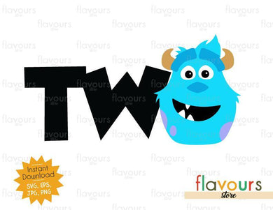 Two - Sulley Monsters Inc - Instant Download - SVG FILES