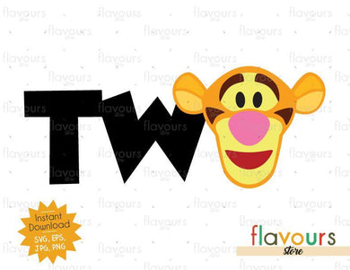 Two - Tigger - Winnie The Pooh - Cuttable Design Files