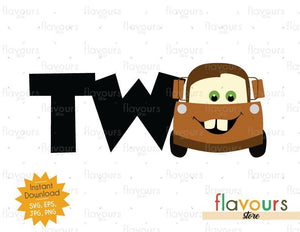 Two - Tow Mater - Cars - Instant Download - SVG FILES