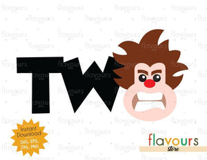 Two - Wreck it Ralph - Instant Download - SVG FILES