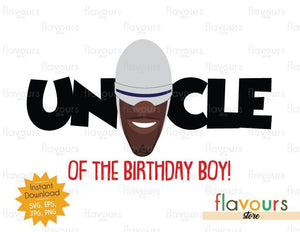 Uncle of the Birthday Boy - Frozone - The Incredibles - Instant Download - SVG FILES