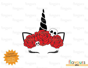 Unicorn Halloween Skull - Halloween - SVG Cut Files