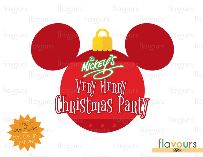 Very Merry Christmas Party - SVG Cut File
