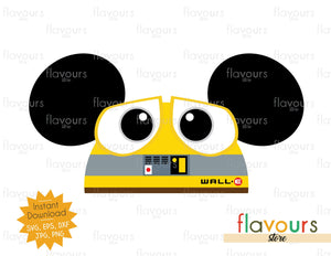 Wall-E Hat Ears - SVG File