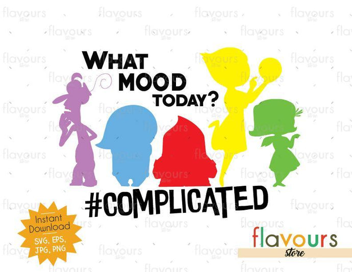 What Mood Today - Inside Out - SVG Cut File - FlavoursStore