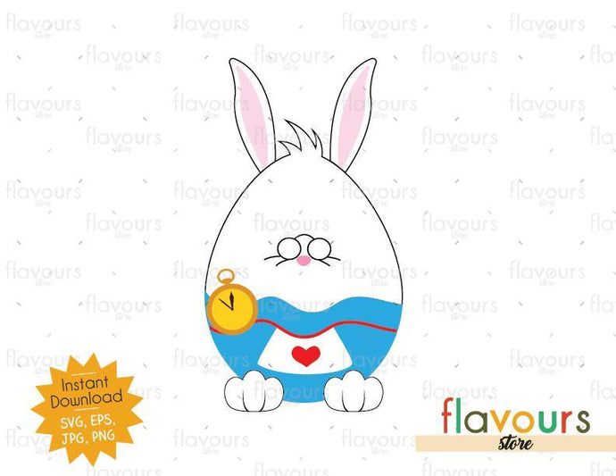 White Rabbit Easter Egg - SVG Cut File - FlavoursStore