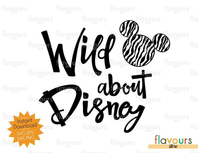 Wild About Disney - Mickey Zebra Pattern - SVG Cut File
