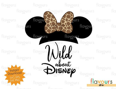 Wild About Disney Minnie Giraffe Ears - SVG Cut File