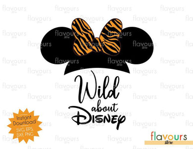 Wild About Disney Minnie Tiger Ears - SVG Cut File