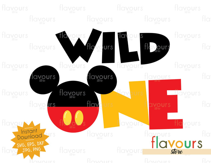Wild One - Mickey Ears - SVG Cut Files