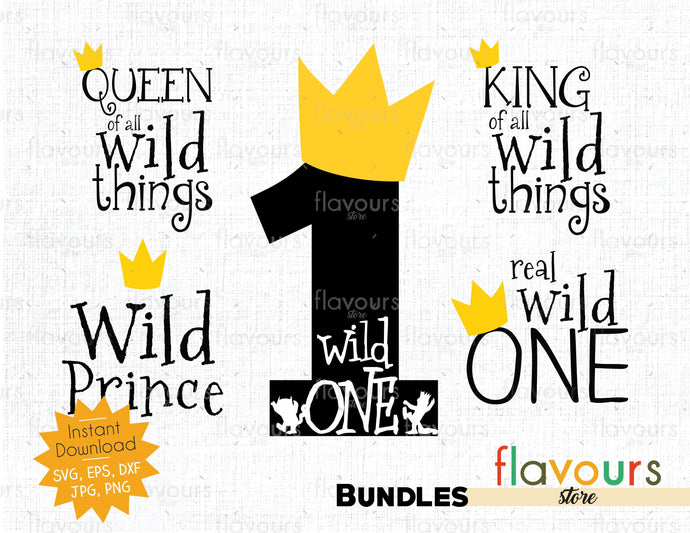 Wild Things - Birthday Bundle - Instant Download - SVG Cut File