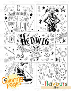 Wizard World Coloring Pages