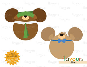 Yogi and Boo Boo Ears - Instant Download - SVG Cut File