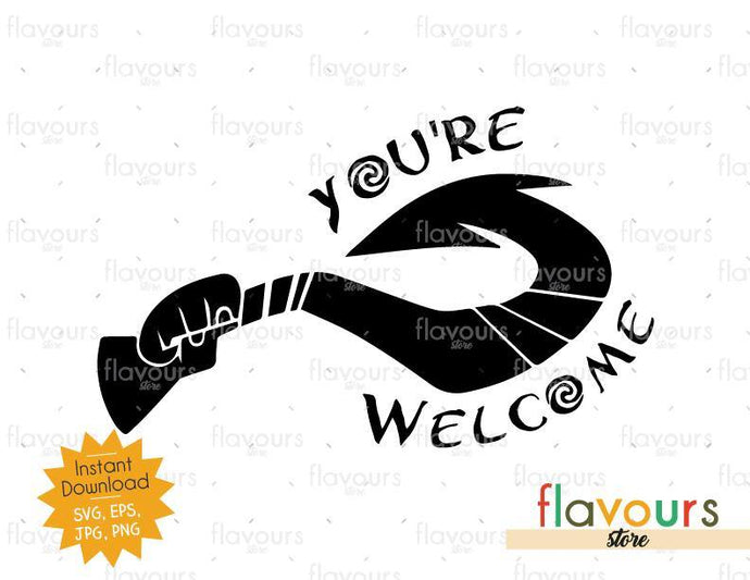 You Are Welcome Maui Hook - Moana - Cuttable Design Files - FlavoursStore