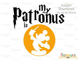 My Patronus is Mickey Mouse - Harry Potter - Cuttable Design Files (Svg, Eps, Dxf, Png, Jpg) For Silhouette and Cricut