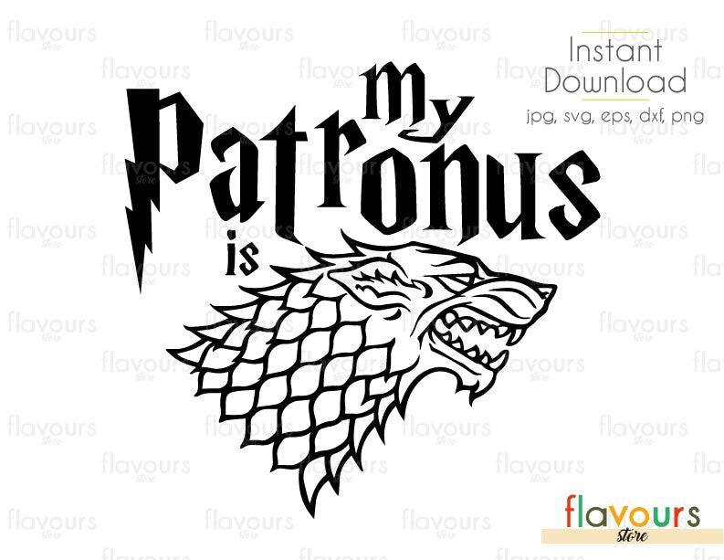 My Patronus is Darewolf - Harry Potter - Cuttable Design Files (Svg, Eps, Dxf, Png, Jpg) For Silhouette and Cricut