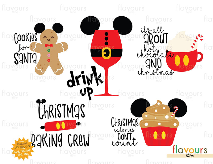 Christmas Baking And Drink Bundle - Disney Christmas - SVG Cut Files