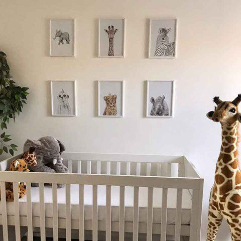 safari nursery theme art prints